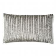 Corded Silver / grey pillow